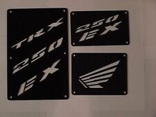 Honda TRX 250EX 250 EX 250X 250 X  Fender Warning Tags Black /NO decal