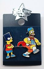 NEW Universal Studios Pin Trading - Bart & Homer Simpson - Super Hero Capes Mask