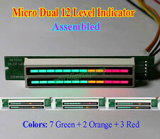 Dual 12 Stereo Level indicator LED VU Meter lamps Adjustable Light Speed Board