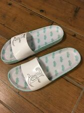 Juicy Couture JC Crown Slip On Sandals White And Mint