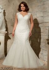 Mori Lee 3175 Wedding Dress Bridal Gown Size 18(w) New With Tags Ivory