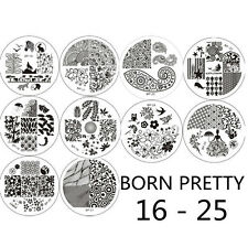 10pcs BORN PRETTY 16 - 25 Ongle Nail Art pochoir Stamping Template Image plaque