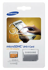 SAMSUNG 32GB microSDHC up to 48MB/s Flash Card With Adapter Model MB-MP32DA/AM