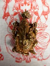 NEW Buddha Bronze GANESH / GANESHA Pendant /Amulet with GANESH WISHING CLOTH