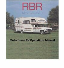 RBR MINI CRUISER MOTORHOME OPERATIONS MANUAL for Toyota RV Repair & Service