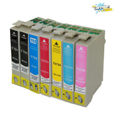 7PK New 79 T079 791-796 Ink for Epson Stylus Photo 1400 1410 Artisan 1430