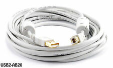 20ft. Hi-Speed USB 2.0 A/B Cable w/ Two Ferrite Cores, CablesOnline USB2-AB20