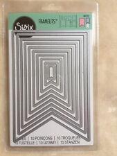 New SIZZIX Banners #3 Die Set ~ 10 Framelits Dies SEALED 561152