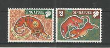 SINGAPORE 1998 YEAR OF THE TIGER SG,914-915 U/MM NH LOT 2928A