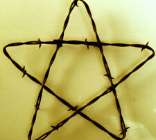 """Rusty Barbed Wire Star ~ 7"""" ~ Rustic Western Farm & Ranch Home Decor Make Offer"""