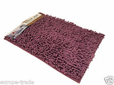 Washable Soft Shaggy Non Slip Absorbent Bath and Room Mat Shower Rugs Purple