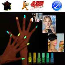 LOT 3 VERNIS A ONGLES FLUO LUMINEUX 20 COULEURS FLASHY FASHION TENDANCE NAIL ART