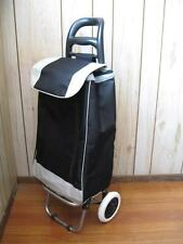 2 in 1 BLACK FOLDING SHOPPING LAUNDRY TROLLEY CART HAND TRUCK