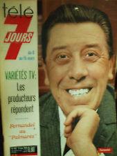 tele 7 jours  Fernandel au palmares  9 mars 1968 N°416