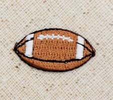 "Iron On Applique Embroidered Patch - Small - Football Ball 7/8"" - MINI"