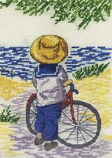 All Our Yesterdays Cycling Break Cross Stitch Kit Limited Edn with Free Booklet