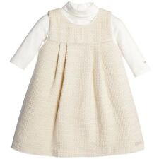 CHLOE BABY IVORY PINAFORE DRESS AND ROLL NECK TOP 2 YEARS