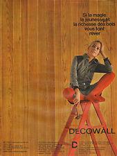 Publicité 1965  DECOWALL panneau de bois contre-plaqué rainuré et verni