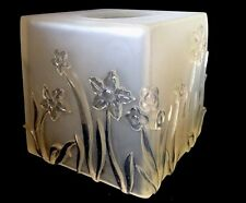 Morning Mist Botanical Daffodils Etched/Clear Tissue Box Cover NOS NIB Beautiful