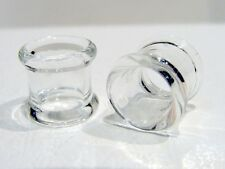 SET PYREX GLASS 2G TUNNELS PLUGS BODY JEWELRY PLUG