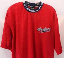 Cleveland Mesh Jersey Boom X Sports Embroidered Logo Mens Shirt Top Red Navy L