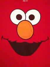 Sesame Street Elmo Face Print Puppet Red Kids TV Show T Shirt XL