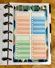 *Last Time I* Schedule Track Dashboard Insert for use with MINI Happy Planner