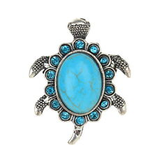 Thboxs Tibet Tortoise Cocktail Ring Vintage Statement Turquoise Stone Jewelry