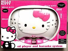 Hello Kitty CD Karaoke System/CD Player with AC Adapter - Pink/White (KT2003CA)