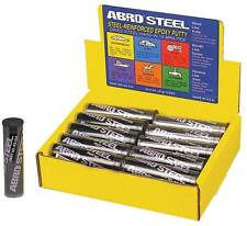 Abro Acero quicksteel Metal Reparación Epoxi Masilla Soldar 57g se seca duro en 15 minutos