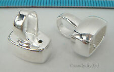 1x BRIGHT STERLING SILVER PENDANT BAIL SLIDER with END CAP CONNECTOR #2103