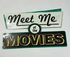 Meet Me At the Movie Wall Plaque Sign Theater Vintage Style Retro Art Decor New