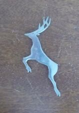 VINTAGE yellowstone park DEER silver lapel BROOCH lapel PIN christmas reindeer
