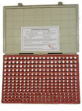 """.251"""" - .500"""" Minus.0002"""" 250pc in .001"""" Incr. Vermont Gage Pin Set Class ZZ USA"""