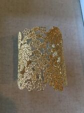 Authentic Stella & Dot Gold Chantilly Lace Cuff New in Box!