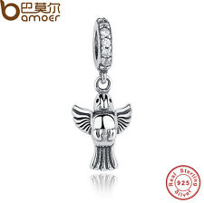 Mini Authentic S925 Sterling Silver Charms Bird Pendant CZ Fitting Pa Bracelets