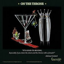 MARTINI ART PRINT On The Throne Michael Godard