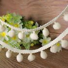 1yd Decorated Lace Trim Pom Applique Sewing Accessory Ball Fringe Ribbon New