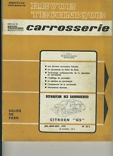(105B) REVUE TECHNIQUE CARROSSERIE CITROEN GS