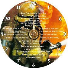 BRAND NEW Fire Engine / Truck - Firefighter / Fireman Prayer CD Clock