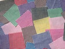 "100 x 4"" Fabric Remnant Bundle patchwork squares~1/8 gingham Collection~Craft"