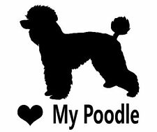 Love My Poodle, Car, Wall, Decal, Sticker.
