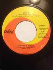 "1968 SANDLER & YOUNG 7"" 45 LIFE IS / SOMETHING IS HAPPENING - CANADA ONLY ISSUE"