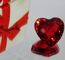 MIB 1998 LE SWAROVSKI RED Faceted CRYSTAL HEART alentine Love Paperweight Decor