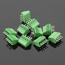 10 pcs 4 poles/4 Pin 2.54mm 0.1'' PCB Universal Screw Terminal Block Connector