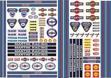 1-10 Scale Model Car Decals Martini Racing Style Exterior Vinyl Stickers GT 40