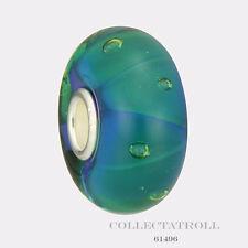 Authentic Trollbeads Silver Glass Mist Bubbles Bead Trollbead 61496 TGLBE-10191
