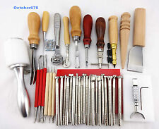 40 PCS LEATHER STAMPING TOOLS SET Leathercraft TOOL KIT FOR LEATHER PRACTICAL
