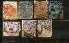 GB UK Great Britain Queen Victoria Qv 7 Old Stamps