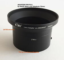 2 Part LENS ADAPTER 58/72mm AptTo CAMERA FUJI FINEPIX S1800 S1850 S1880 S2500